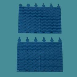 Brosse lamelle bleue Zodiac Indigo (x2)
