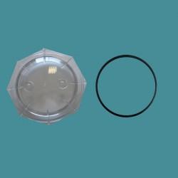 Couvercle de filtre à sable transparent 6'' Jupiter/Galatic avec joint