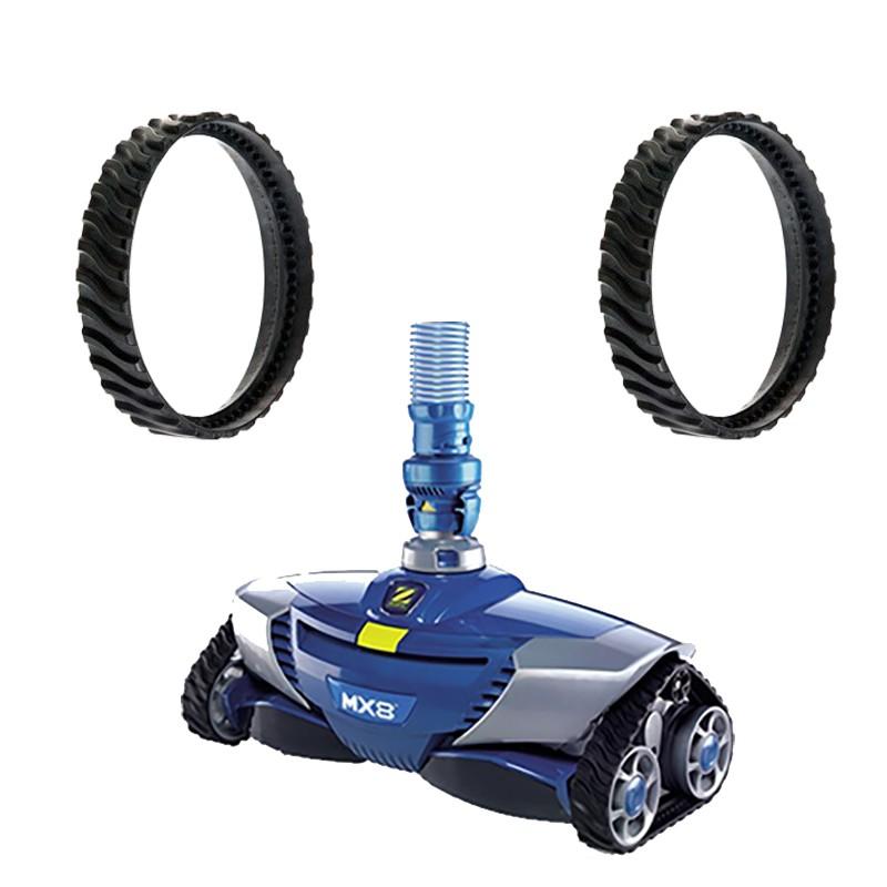 Pneus et chenilles pour robot hydraulique