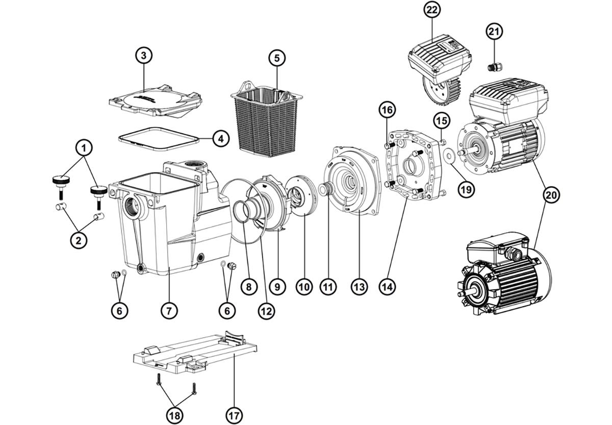vente de pi ces d tach es pour pompe hayward super pump. Black Bedroom Furniture Sets. Home Design Ideas