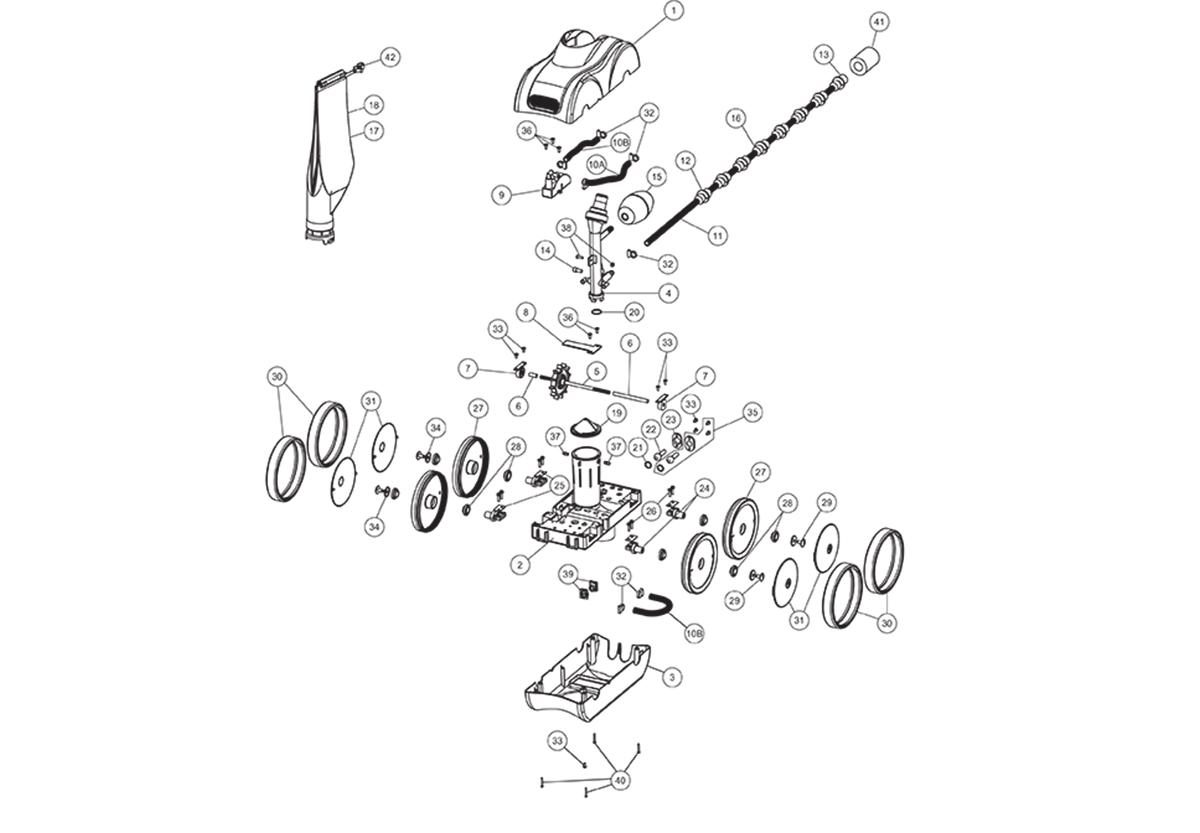 Vente de pièces détachées pour robot Pentair Legend II V2 (2009)