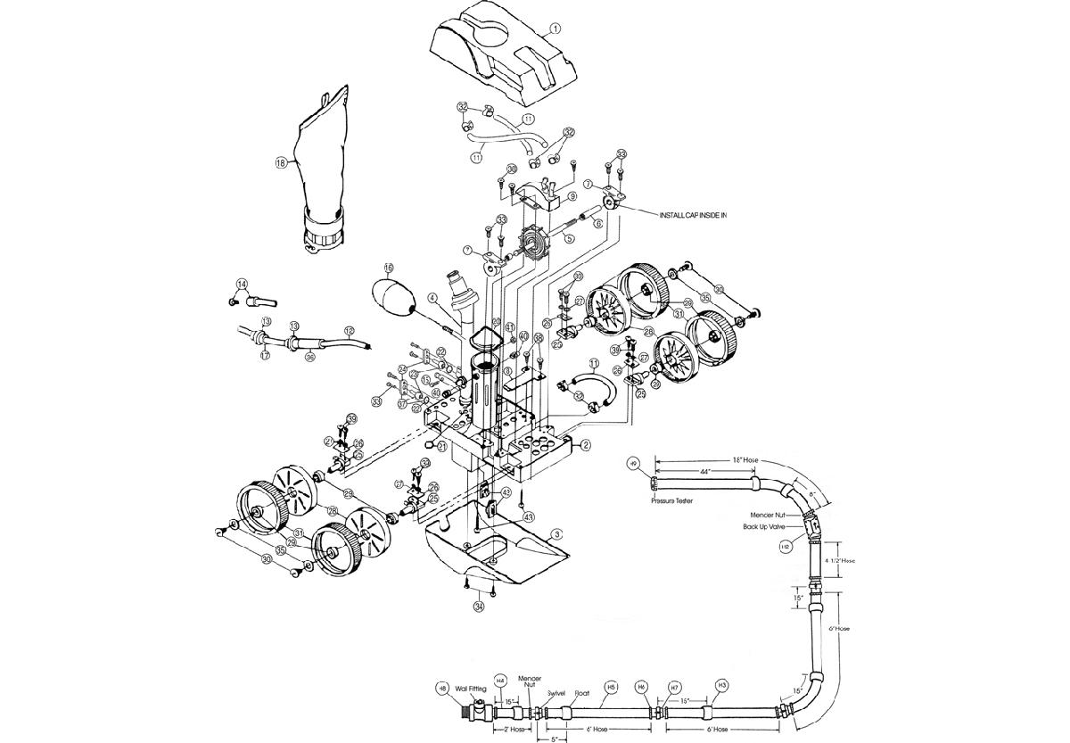 Vente de pièces détachées pour robot Pentair Legend II