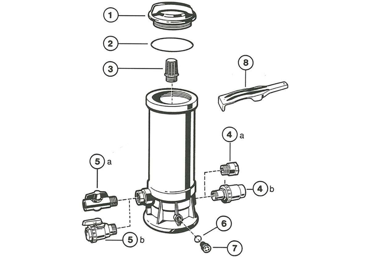 Vente de pièces détachées pour chlorinateur/brominateur Hayward grande capacité