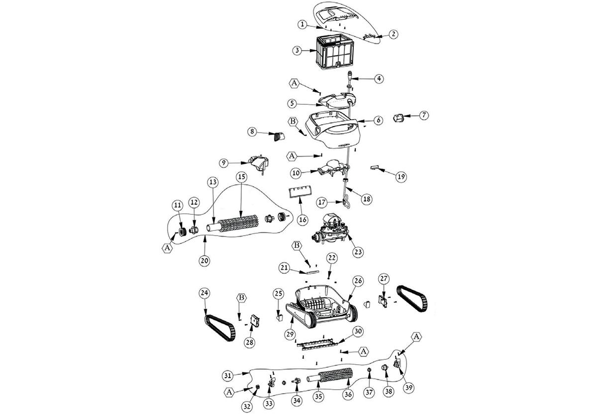 vente de pi ces d tach es pour robot lectrique maytronics. Black Bedroom Furniture Sets. Home Design Ideas