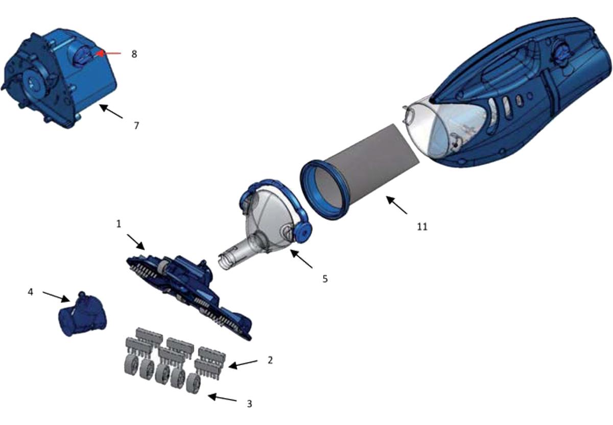 Vente de pièces détachées pour aspirateur Pool Blaster Max