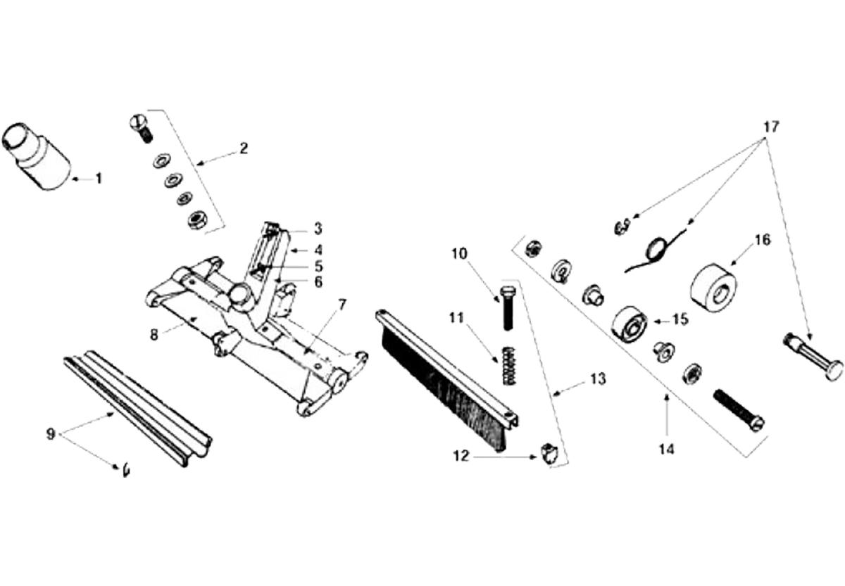 Vente de pièces détachées pour balai manuel Fairlocks